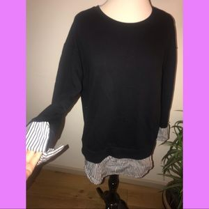 Forever 21 contemporary long black sweater shirt